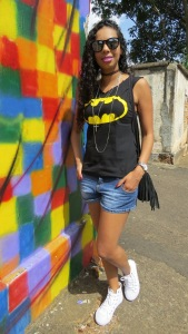 Look do dia T-shirt Batman!