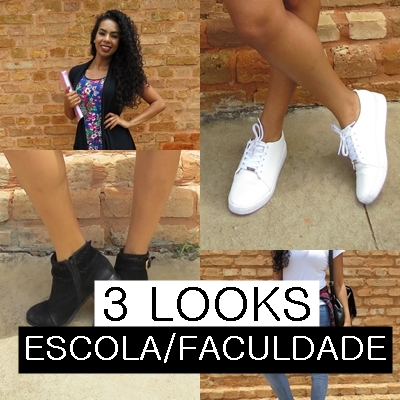 COMO MONTAR LOOKS PARA ESCOLA/FACULDADE 3 LOOKS